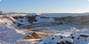 карьерный песок зимой